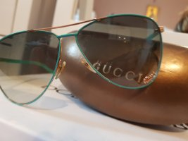 Gucci Bril goud-turkoois