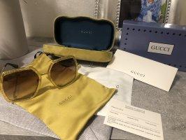 Gucci Lunettes de soleil angulaires doré
