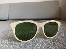 Gucci Occhiale da sole rotondo crema-oro