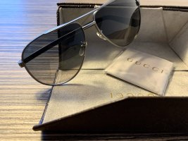 Gucci Pilotenbril zilver-zwart Metaal