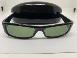 Gucci Angular Shaped Sunglasses black-khaki