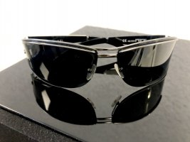 Gucci Angular Shaped Sunglasses black-silver-colored