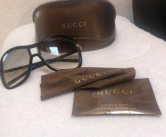 Gucci Lunettes marron clair-doré