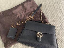 Gucci Gekruiste tas zwart-goud Leer