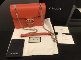 Gucci Borsa a spalla arancione