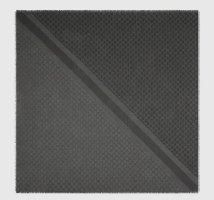 Gucci Écharpe en soie gris anthracite-gris foncé