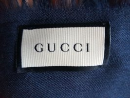 Gucci Foulard bleu-bleu foncé soie