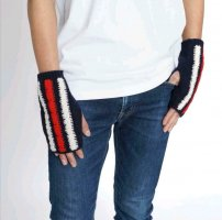 Gucci Fingerless Gloves multicolored wool