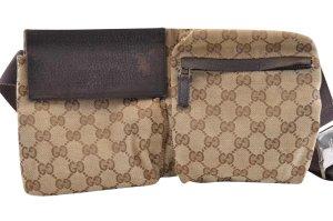 Gucci Bolso de mano marrón fibra textil