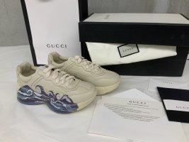 Gucci Sneaker con tacco bianco sporco Tessuto misto