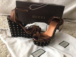 Gucci Wedges Leder Hight Class