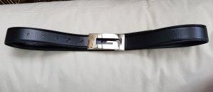 Gucci Cintura reversibile nero-argento