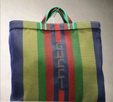 GUCCI WOVEN RUBBER TOTE BAG SHOPPER MULTCOLOUR BIG UNISEX NEW