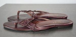 Gucci Flip flop sandalen roodbruin Leer