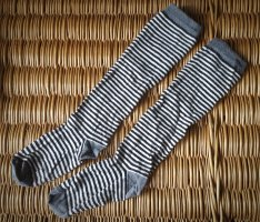 Gudrun Sjöden Legwarmers natural white-grey