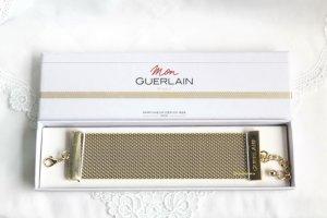 Guerlain Armband Bracelet Metallgewebe Mesh goldton