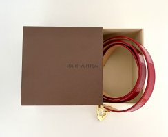 Louis Vuitton Leather Belt red