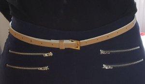 Mexx Cinturón de cuero crema