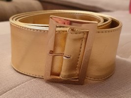 H&M Faux Leather Belt gold-colored