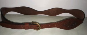 Promod Leather Belt brown-cognac-coloured