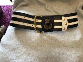 Werner Herbrand Cinturón de cuero blanco-color oro