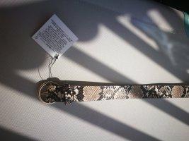 Zara Cinturón de cuero de imitación multicolor