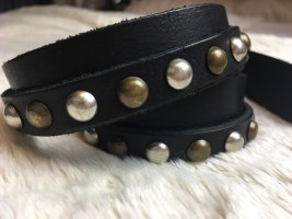 Pieces Double Belt black