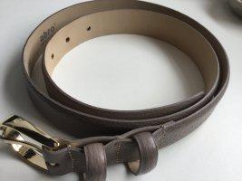abro Cinturón de cuero marrón grisáceo Cuero