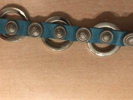 Cinturón de cadera turquesa-color plata