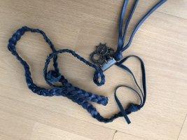Gevlochten riem blauw-donkerblauw