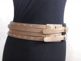 Ann Christine Double Belt grey brown