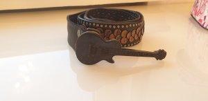 Hebilla del cinturón negro-color bronce
