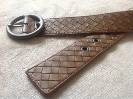 Bottega Veneta Cintura intrecciata marrone chiaro Pelle