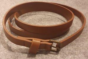 Gürtel - braun - eng - 112 cm lang