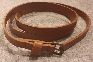Cinturón de cuero de imitación marrón-marrón claro