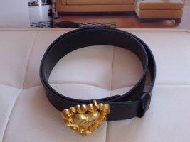Christian Lacroix Paris Cintura di pelle nero Pelle