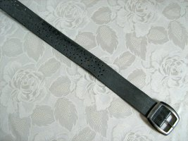 b.p.c. Bonprix Collection Faux Leather Belt grey