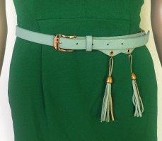 H&M Cintura in ecopelle turchese