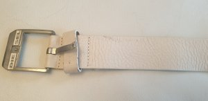 Diesel Leather Belt white leather