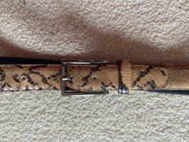 Cinturón de cuero de imitación beige