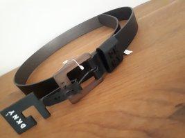 DKNY Cinturón de cuero de imitación negro