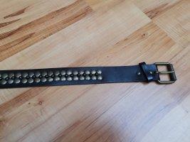 Promod Cinturón de cuero de imitación marrón oscuro