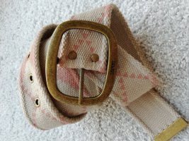 Edc Esprit Fabric Belt beige-light pink
