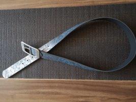 Laura Torelli Faux Leather Belt bronze-colored-slate-gray