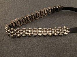 Cintura borchiata nero-argento