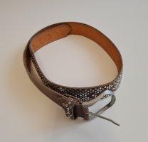 Cintura borchiata talpa-marrone-grigio