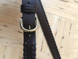 Promod Cintura in ecopelle marrone-nero