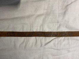 Fornarina Cinturón de cuero marrón