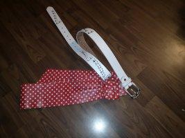 Cintura fianchi bianco-rosso