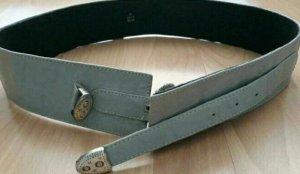 Cinturón de cadera color plata tejido mezclado